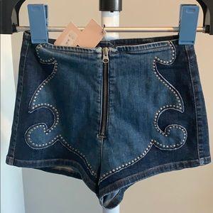 Nasty gal jean shorts